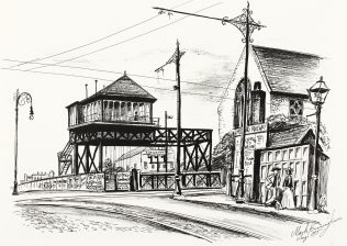 Bartongates, as drawn by Mark Cunningham in 1995.  You can click on the image to see a larger version of it | Copyright Mark Cunningham