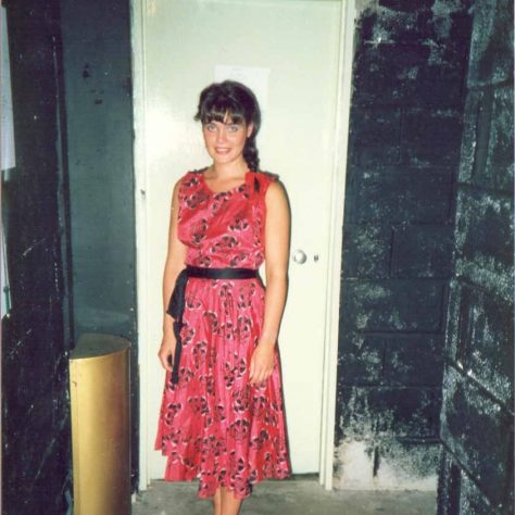 Mrs L. Campbell outside the Small dressing room at the picturedrome | Mrs L. Campbell