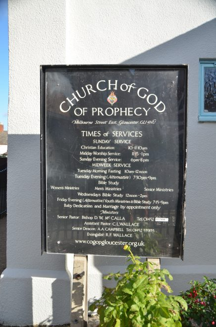 The Church of God of Prophecy notice | Dave Bailes