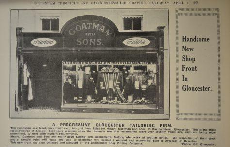 A Barton Street Tailors' shop