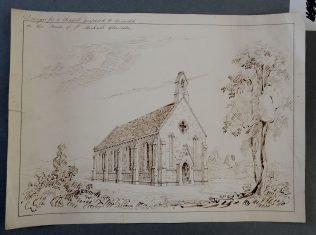 Drawing of proposed Church of St James, late 1830s | Copyright Gloucestershire Archives