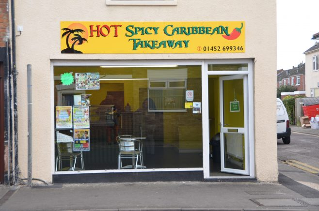 The Hot Spicy Caribbean Takeaway on Tredworth High Street | Dave Bailes