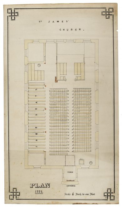 P154/8 CW3/2 Plan of seating arrangements, 1886 | Gloucestershire Archives