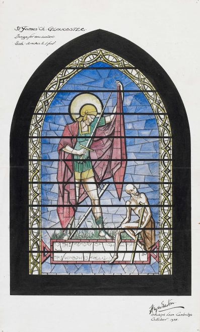 P154/8 CW3/7 Stained glass window design | Gloucestershire Archives
