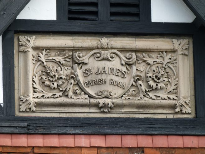 St James' parish room plaque | Dave Bailes
