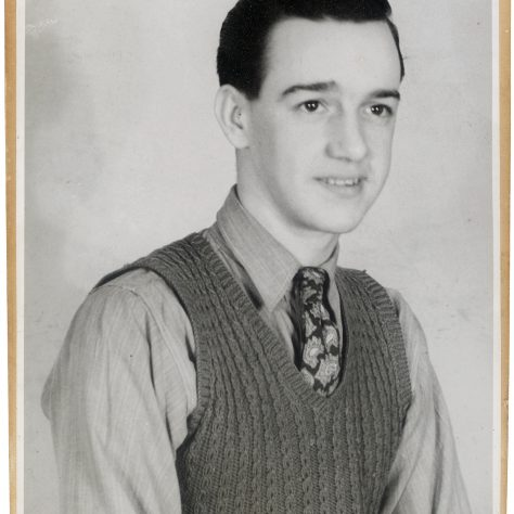 Michael John Turk photographed in the Fielding & Platt Drawing Office on 15 January 1951, two weeks before he joined the RAF