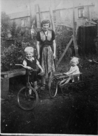 Stan in his garden in the 1920s