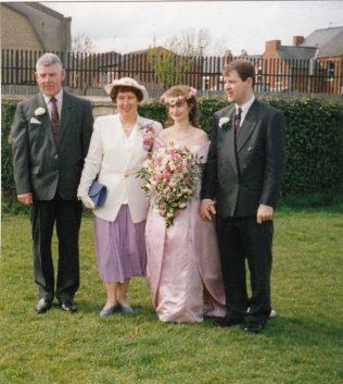 Hazel on her son's wedding day