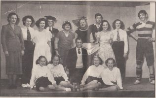 Ivy's Parry Hall theatre group. Ivy can be seen in the back row with the apron | Tom Charnock