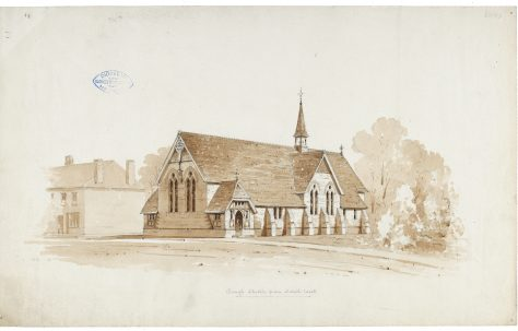 The origins and site of The Church of the Good Shepherd, 1835-1885