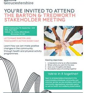 Invitation to the Barton & Tredworth Stakeholder Meeting